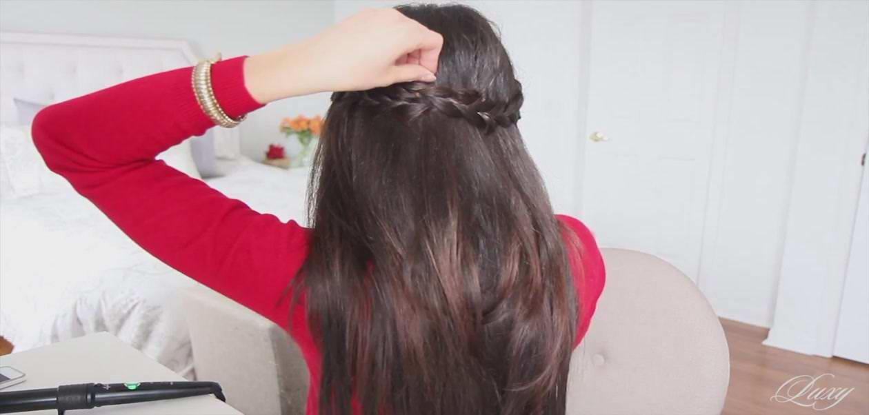Прическа своими руками на средние густые волосы