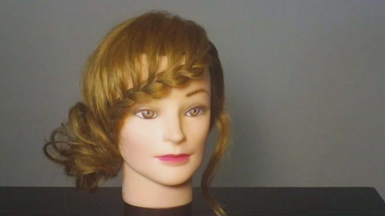 Прически с челкой на средние волосы своими руками фото