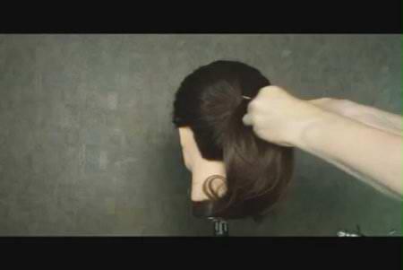 Прическа - бант(цветок) из волос