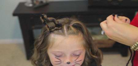 Котик (детская прическа на Хелоуин)