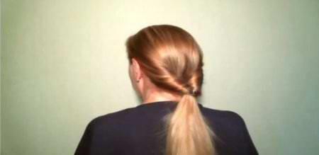 Прическа с палочкой для волос