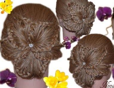 Как сделать цветок из волос