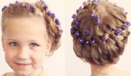 Видео детские прически на средние волосы