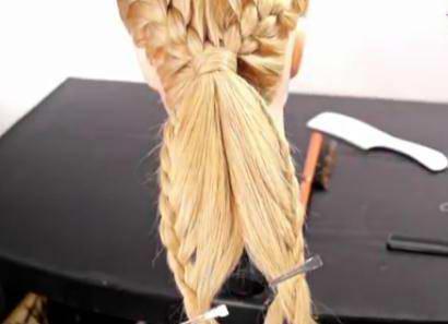 Пучок с плетением