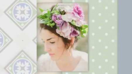 Украшение для волос - живые цветы