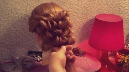 Причёска с помощью резинок
