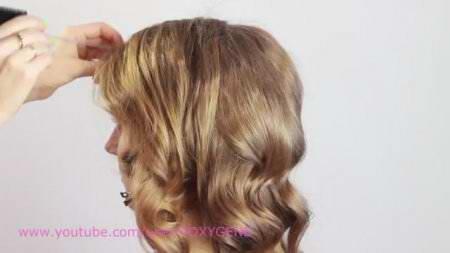 Укладка голливудская волна / Hollywood Waves Hair Tutorial