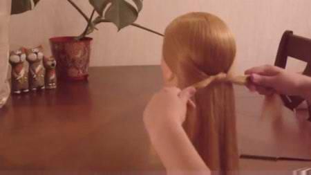 Вечерняя причёска, узелковое плетение