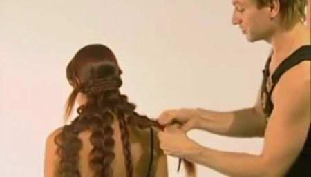 Прическа на очень длинные волосы