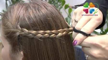 Прическа со жгутами и косами