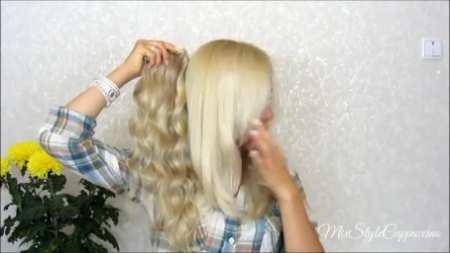 Натуральные волосы на типсах