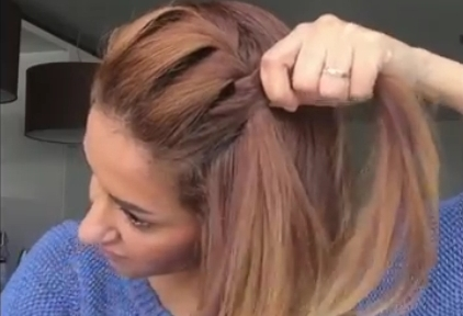 Плетение жгута вокруг головы
