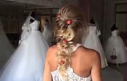 """Свадебная прическа """"Романтика"""""""