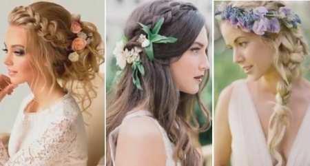 Свадебные модные прически для невест 2017