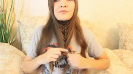 Плетение необычной косы-перевертыша